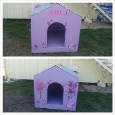 home made dog house ♥