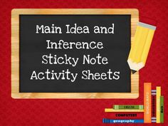 Great for middle school social studies and science classes!!!!! Want to spice up your students' analysis of nonfiction text? Just add sticky notes! Using sticky notes allows students to feel like they have control over the information. They love the idea that it's not permanent and easy to edit. Included you will find two different sticky sheets. 1. Main idea for nonfiction text 2. Inference  My students have loved this!
