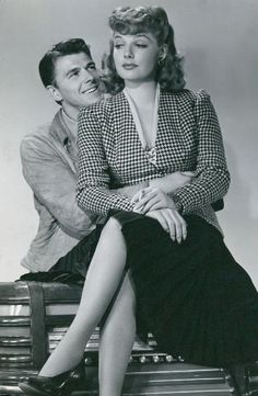 Ann Sheridan - from Juke Girl - with Ronald Reagan.