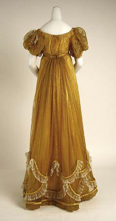 Evening dress  Date: ca. 1818 Culture: British Medium: silk  (collection of the Metropolitan Museum of Art)