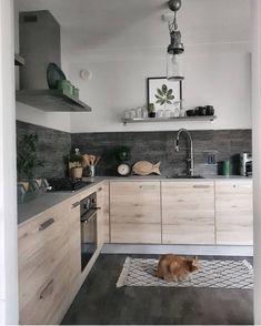 Decorating Your Home with Texture is Always an Inspiration - Interior Fun Home Decor Kitchen, New Kitchen, Interior Design Living Room, Home Kitchens, Küchen Design, House Design, Scandinavian Kitchen, Cuisines Design, Cheap Home Decor