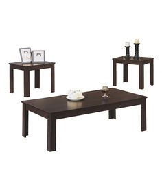 Another great find on #zulily! Cappuccino Three-Piece Accent Table Set #zulilyfinds