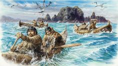 Late Upper Paleolithic people in Japan carrying obsidian from Kozu Island by Teru Va