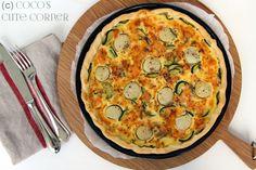 Quiche mit Jakobsmuscheln und Lachs - mal etwas anderes Quiche, About Me Blog, Breakfast, Recipes, Food, Seashells, Salmon, Koken, Rezepte
