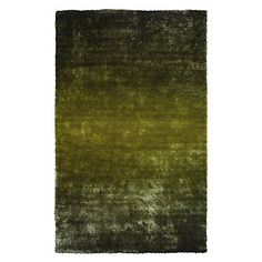 Z Gallerie - Shadow Indochine Ombre Rug - Apple Green