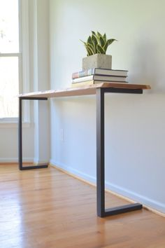 Minimalist wood furniture Furniture Steel furniture Industrial furniture Metal furniture Diy furniture projects - [Console no 2 Reclaimed Cherry Steel 'C' Legs] - . Diy Furniture Projects, Home Decor Furniture, Modern Furniture, Furniture Legs, Barbie Furniture, Console Furniture, Garden Furniture, Reclaimed Furniture, Furniture Vintage