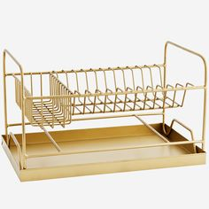 We're all about trying to make the mundane insane so when we saw this brass dish rack we knew we were onto a winner. Drying your dishes has never Brass Metal, Antique Brass, Dish Drainers, Deco Addict, Moving Furniture, Dish Racks, Drip Tray, Cabinet Makers, Marimekko