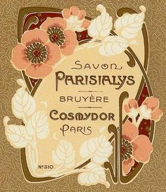 Savon Parisialys Art Nouveau Label Bruyere Cosmydor Paris France Perfume Parfum   eBay