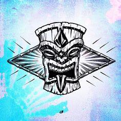 Tiki - Volcom Graphic ~ Jamie Browne jamiebrowneart.com