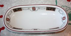 Vintage Grecian Themed Relish Dish Lamberton by FelicesFinds
