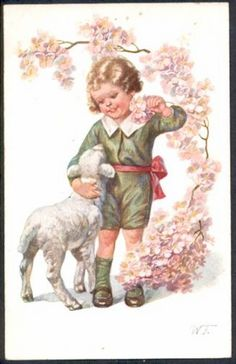 Young boy with a lamb