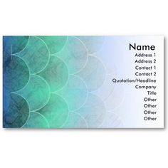 Abstract Mermaid's Scales Business Card