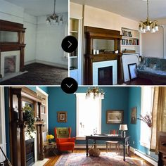 Our First Before, Before & After: The Front Parlor at Fairview | Design*Sponge