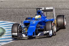 Test in Jerez, day 1. Marcus Ericsson is at the wheel of the Sauber C34-Ferrari.