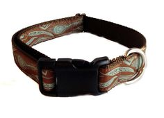 1 Feather Dog Collar / Large Dog Collar by hollywoofstyles on Etsy, $20.00
