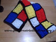 Easy Crochet Pattern DYI Like Lego Scarf by Patternstriedandtrue