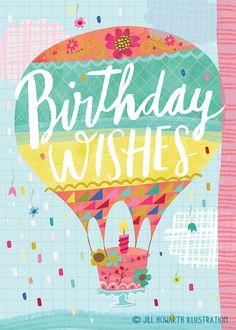 birthday card / Jill Howarth Illustration