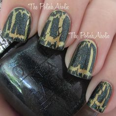 OPI Shatter the Scales (over OPI Just Spotted the Lizard)