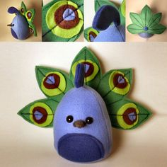 felt peacock. Shut the front door!  These are two of my faves in one cute project!