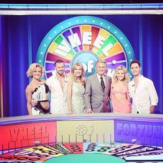 Pro shot of Artem, Sasha, Peta & Witney with hosts of #WheelOfFortune