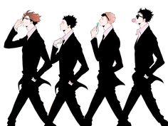 iwaizumi, oikawa, matsukawa, hanamaki,suits