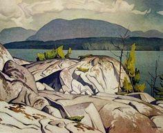 """Birch Island"" By A.J.Casson | ManorHill Fine Art"
