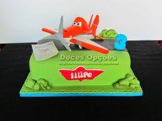 Doces Opções: Bolo de aniversário com o Dusty dos Aviões da Disn...
