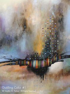 Abstract Modern Painting - Artist Tim Parker