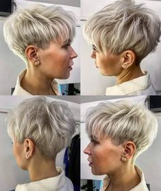 Short Hairstyles For Thick Hair, Cute Short Haircuts, Cute Hairstyles, Short Hair Cuts, Short Hair Styles, Layered Bobs, Stylish Haircuts, Long Locks, Cute Shorts
