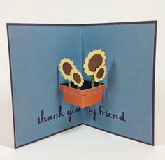 Close To My Heart Artfully Sent Cricut cartridge sunflower pop up card