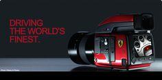 Limited edition camera by Hasselblad and Ferrari Glass Display Box, Display Boxes, New Ferrari, Medium Format Camera, E Photo, Camera Accessories, Digital Camera, Engineering, Lens