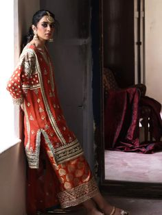 Misha Lakhani, Side Slit Dress, Groom Outfit, Post Wedding, Occasion Wear, Anarkali, Kimono Top, Couture, Woman Clothing