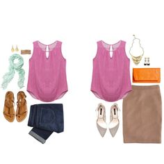 I like this top - great color, sleeveless and good to layer with a cardi, cute pattern!