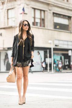 Weekend Lace :: Modern blazer & Leopard pumps