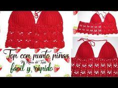 Report this item Top Tejidos A Crochet, Freeform Crochet, Free Crochet, Crochet Hats, Crochet Halter Tops, Crochet Crop Top, Crochet Bikini, Pineapple Bikini, Pineapple Crochet