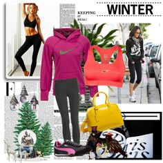 "Keeping it real with ""Winter Work Out"" by studentrate on Polyvore- Style your workout @ http://www.studentrate.com/studentrate/fashion/fashion.aspx"