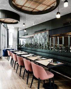 Some Aussie inspiration fromUNTIED, Sydney rooftop bar by Technē Architecture + Interior Design #InteriorDesignCafe