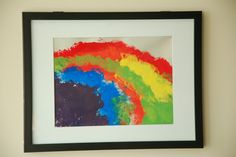St. Patrick's Day Art: Our First Rainbows - In Lieu of Preschool, paint rainbows with cottonballs