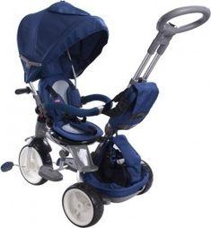 Rowerek trójkołowy Little Tiger - niebieski Baby Strollers, Babe, Sun, Children, Toddlers, Baby Prams, Boys, Kids, Prams