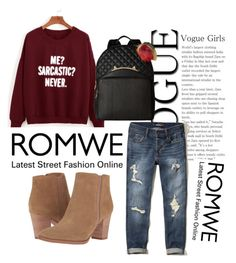 """Romwe contest"" by besirovic ❤ liked on Polyvore featuring Hollister Co., Franco Sarto and Betsey Johnson"