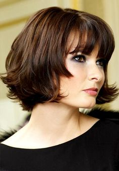 DO NOT want... pinning so I can show them this as well.  Layered Medium Bob Haircut
