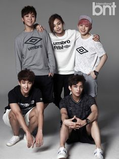 """SEVENTEEN is charming and handsome in first """"bnt"""" pictorial - Vocal Team (L to R): DK, Seungkwan, Jeonghan, Woozi, Joshua"""