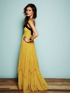 Free People- Gianna's Limited Edition Leather and Lace Gown