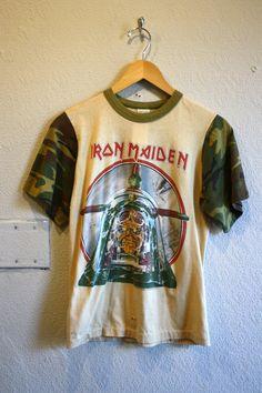 Vintage 1984 Rare Iron Maiden T Shirt