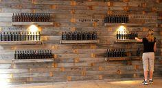 nice wall + bottles - safe