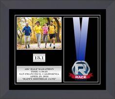 "10"" x 12"", 4 Window Race Medal Display Frame"