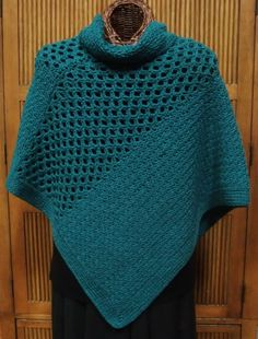 Patrón de poncho de ganchillo - Cute crochet poncho pattern