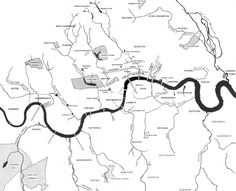 London's lost rivers (now gone or underground).