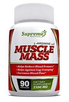 L-arginine - Muscle Mass - 90 Capsules - Nitric Oxide Booster - Protein Synthesis - Essential Amino Acid - Nutritional Supplement - Lowers Blood Pressure - Gets Results Nitric Oxide Supplements, Amino Acid Supplements, Supplements For Women, Protein Supplements, Nutritional Supplements, L Arginine, Bodybuilding Supplements, Lower Blood Pressure, Cookware Set