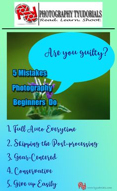 The mistakes photography beginners do could be avoided with guidance from a photographer who experienced and realized his mistakes over time. Beginners Guide To Photography, Photography Tutorials, Photography Ideas, Learn To Read, Shutter Speed, Taking Pictures, How To Run Longer, Digital Photography, Mistakes